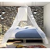 noorsk Moskitonetz mit Pop-Up Ring | Mückennetz für Einzel- und Doppelbetten | Betthimmel Insektennetz | Bettvorhang - Weiß - 250cm