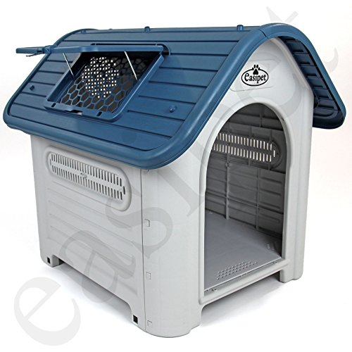 Easipet Weatherproof Plastic Dog Kennel for Indoor and Outdoor