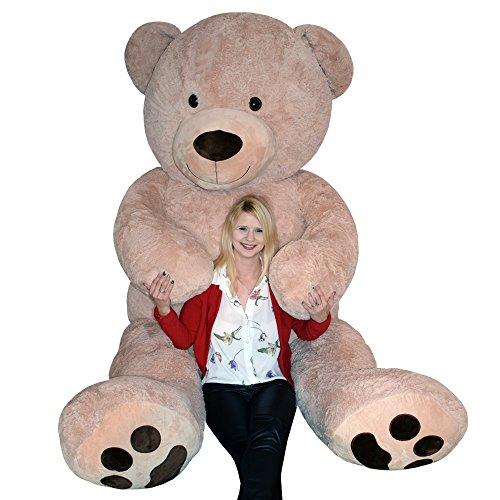 (TE-Trend XXL Riesenteddybär Riesenteddy Plüsch Teddybär Teddy liegend sitzend Übergroße 250 cm braun)
