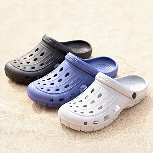 Chaussures de jardin pour hommes Tongues De plein air Loisir Des sandales Accueil Chaussons de salle de bain Été Beach Baotou Chaussures 2 achetés 1 offert black