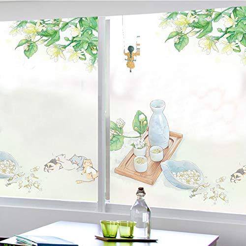 HAOLY Statische Matt Fenster Glas klar Film,Aufkleber Schattierung,Blickdichter Badezimmer Home Küche Badezimmer Aufkleber-A 120x70cm(47x28inch)
