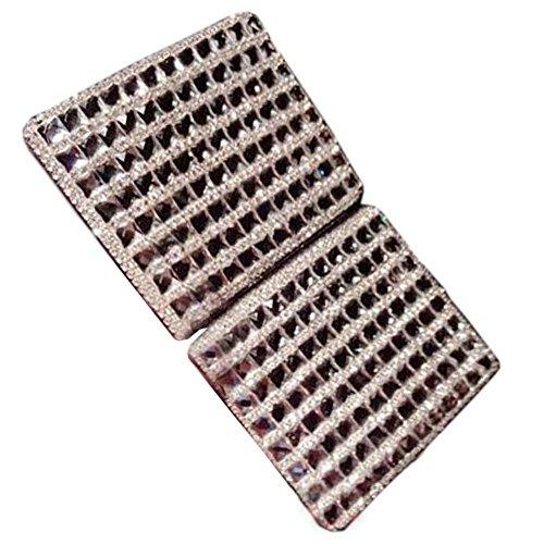 Handgemachte funkelnde quadratische Frauen-Zigaretten-Kasten Rhinestone-Frauen-Zigarre-schützender Fall, # 07 (Lange Zigarettenspitze Fall)