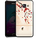 Samsung Galaxy A3 (2016) Housse Étui Protection Coque Branche d'arbre Feuilles Fleurs