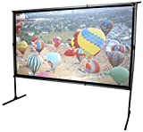 Elite Screens OMS120H2 Dual Mobile Outdoor Canvas Garden Yard Master 2 Dual 266 Projection Screen Black
