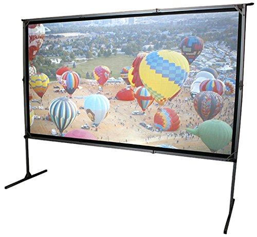 Elite Screens OMS120H2-DUAL Mobile Garten Leinwand Yard Master 2 Dual 266 Outdoor Projection Screen schwarz Dual Mobile