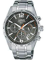Para hombre Lorus Gris oscuro reloj cronógrafo RT301FX9