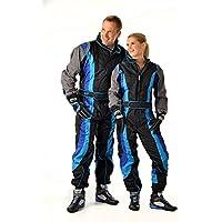 Speed Kartoverall SR2 - schwarz-blau-grau - Kart Hobby Overall - Karting Suit