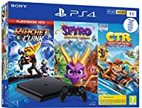 CONSOLE PS4 1To SLIM F + R&C + CTR + SPYRO - PS4PS4 1 To + CTR + Spyro + R&C Hits - noire