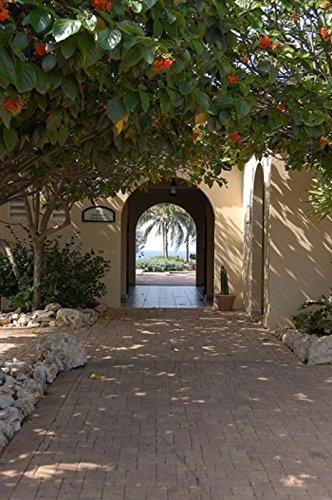 Lisa S. Engelbrecht/DanitaDelimont - Archway to Pool at Tierra del Sol Golf Club and Spa Aruba Caribbean Photo Print (60,96 x 91,44 cm) - Del Sol Golf