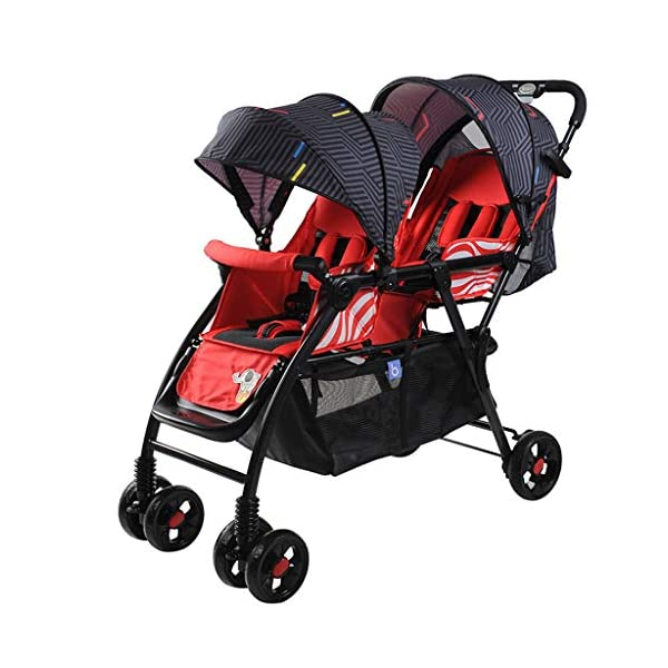 Pushchairs Prams Lightweight Double Stroller, Foldable Reflective Five-point Seat Belt Brake Damping Design Adjustable Twin Stroller Baby Pushchairs (Color : Red) LOFAMI-Pushchairs ★ The stroller is an essential tool for the baby to travel, so that the baby can sit or lie inside, and the parents can push the car to walk, The baby stroller can let the baby rest and play in addition to the baby. ★ Pushchairs Strollers Toddlers Prams Travel Girls Car Seat Baby Cover Pink Lightweight Wheels Organizer Buggies Boys Pram Trolleys Raincover Twins Blue System Reclines Combo Fold Tricycles Toys Carrier Set Holder High Bassinet Adjustable Black Newborns Plastic Visor Carriage Airplane Awning Safety Base Basket Compact Single Luxury Pushchair Kids' Trikes Landscape Portable Large Storage Height Children Folding Parasol Sunshade Clips Liner Babies Universal Rain Grey Clip White Green. Lightweight double stroller for easy access to elevators, subway gates, etc., weighing only 8.9kg, small size and space saving. 1