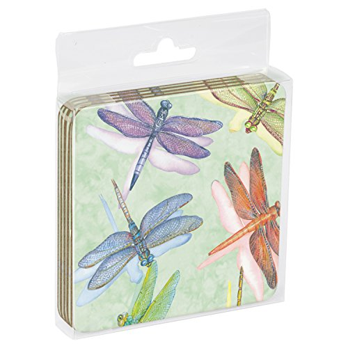 tree-free-greetings-52500-375-x-375-inch-dragonflies-themed-wendy-russell-art-cork-backed-coasters-s