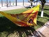 MacaMex Hängematte Mexikanische Netzhängematte Familienhängematte XXL 4 Personen 300 kg, 410 x 300 x 150 cm, solar - 2