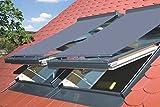 Netzmarkise in Grau (Außen) für Skylight und Skylight Premium Dachfenster 114x140