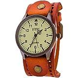Clearance Sale! CCQ Brand Leather Vintage Watch Men Women Wristwatch Quartz By YANG-YI