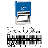 Custom Signature Personalisierte Stempel Barcode Design Business Address Designer-Briefmarke von Printtoo