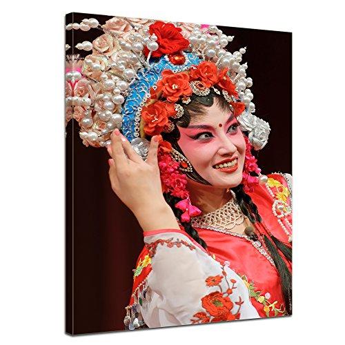 Wandbild traditionelles chinesisches Kostüm - 40x50 cm Bilder als Leinwanddruck Fotoleinwand Kunst & Life Style - China - traditionelles Gewand