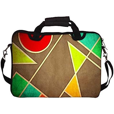 Snoogg pastello con forme geometriche 2677 con tracolla per Laptop da 15/15,6