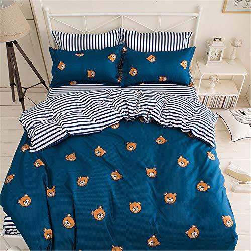 ettbezug Mit Reißverschluss Weicher Baumwolle Bettbezug Double Queen King Size C 150x200cm ()