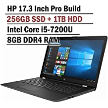 Hp Pavilion 17.3 Inch HD+ Business Laptop (Intel Core I5-7200u, 8GB DDR4 RAM, 256G SSD + 1TB HDD, Bluetooth, HDMI, No DVD Driver, Windows 10)