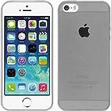PhoneNatic Case für Apple iPhone 5 / 5s / SE Hülle Silikon clear Slimcase Cover iPhone 5 / 5s / SE Tasche + 2 Schutzfolien