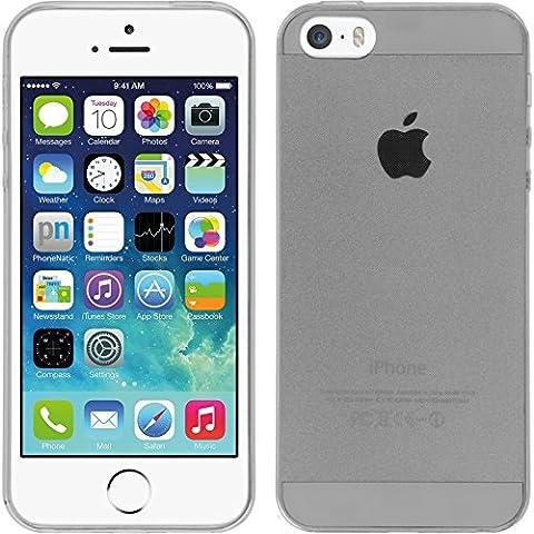 PhoneNatic Étui pour Apple iPhone 5/5S/SE silicone Clear slim case