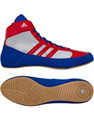 adidas HVC 2de lucha libre zapatos, 15 D(M) US, Azul/Rojo/Blanco