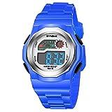 amstt Niños Relojes Relojes Deportes resistente al agua Digital y Analógico Reloj de pulsera Chica Joven, niños digital reloj de pulsera infantil para Digital Reloj Azul