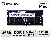 Timetec Hynix IC 16GB DDR4 2400MHz PC4-19200 Unbuffered Non-ECC 1.2V CL17 2Rx8 Dual Rank 260 Pin SODIMM Arbeitsspeicher Module Upgrade For iMac 2017(16GB)