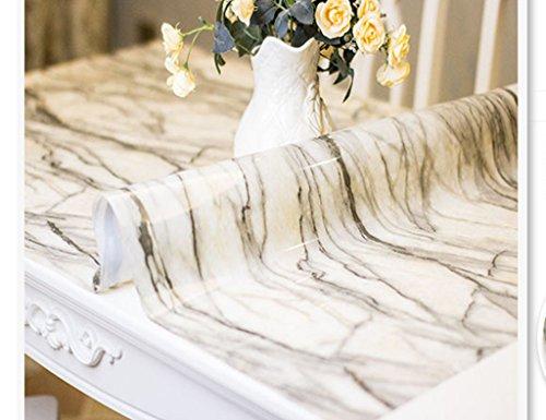 Nappes PVC en Verre Souple Table De Mat Tapis De Table Rectangle Opaque en Plastique Anti-Chaude Imperméable À l'huile (Couleur : Style1, Taille : 80 * 130cm)