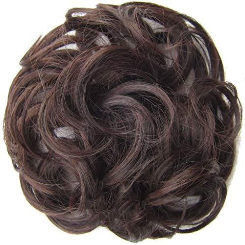 Zolimx Einfach zu tragen Haargummi Haarteil Haare für Haarknoten Gummiband Hochsteckfrisuren Haarband Einfach zu tragen stilvolle Haar Kreis Frauen Mädchen Haar Kreis Gummibänder -