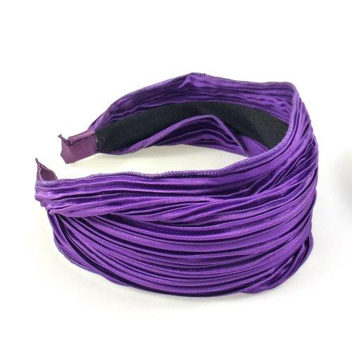 rougecaramel - Serre tête/headband/ large plissé façon bandeau - violet