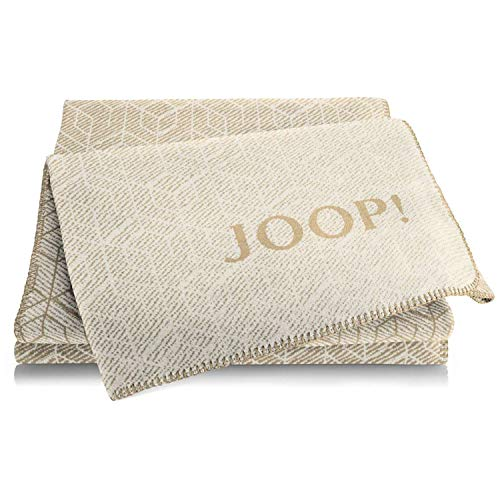 Joop! Wohndecke Metric | Pergament-Camel - 150 x 200