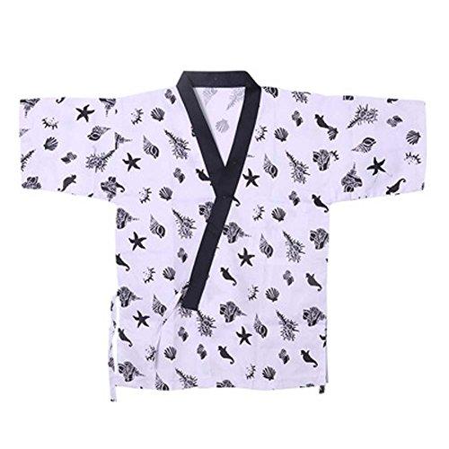 Japanische Sushi Bar Restaurant Bar Kleider Kellner halbe Ärmel Uniform Chef Jacket, # 23 (Mantel Küchenchef)