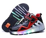 Scarpe con rotelle automatiche per bambini Skate Formatori Sportive Ginnastica Lampeggiante Running Sneaker Con Bobine Scarpe Automatiche per Bambini Ragazze e Ragazzi immagine