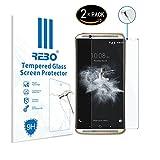 ZTE Axon 7 Verre trempé protecteur d'écran - RE3O® 2 x Protecteur d'écran verre trempé pour ZTE Axon 7 5,5'' pouces, Facile à appliquer sans bulles d'air, Bord rond élégant 2,5D, Dureté 9H, Haute transparence