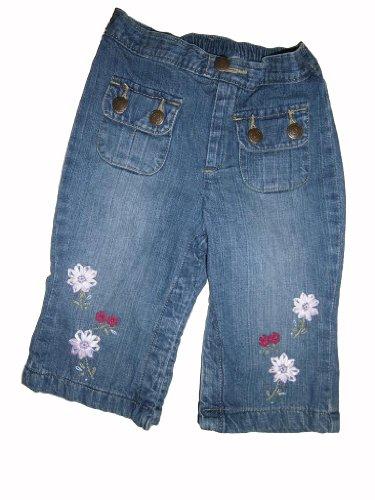 baby-pac-jeans-facile-double-delavees-leger-avec-fleurs-aufwandiger-brodees-elastique-taille-env-62-