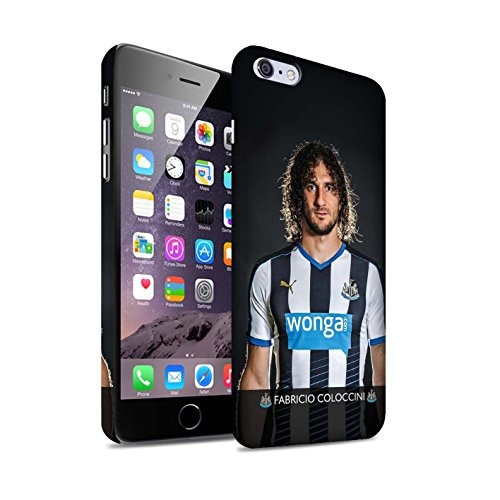 Officiel Newcastle United FC Coque / Clipser Matte Etui pour Apple iPhone 6+/Plus 5.5 / Pack 25pcs Design / NUFC Joueur Football 15/16 Collection Coloccini