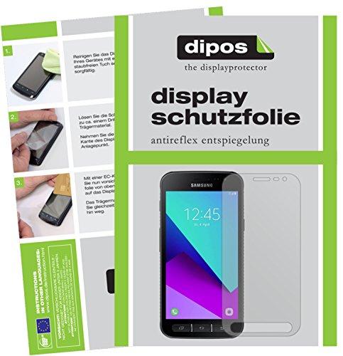 dipos I 2X Schutzfolie matt passend für Samsung Galaxy Xcover 4 Folie Bildschirmschutzfolie