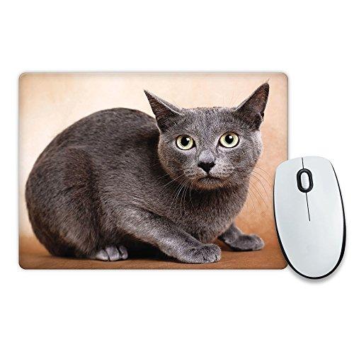 Russisch Blau Katze Tier Mauspad 261 (Russische Lustige Geschenke)