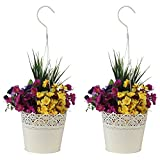 #5: Wonderland Set of Two, Hanging Metal Lace planter / pot / container in White (home , garden decor , balcony, gift item)