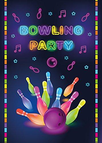 12 Einladungskarten Bowling Mädchen Jungen Geburtstag Erwachsene Kindergeburtstag Geburtstagseinladungen Einladungen Geburtstagsparty Kartenset (Bowling Geburtstag)