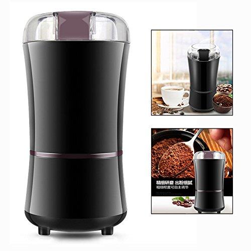 OFKPO Elektrische Kaffeemühle,Nüsse Gewürze Getreide Kaffeemühle mit Edelstahlmesser(Schwarz)