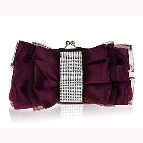 Il dolce borsa borse moda borsa della borsa banchetto nuovo diamante sposa banchetto ( Colore : Nero ) Viola