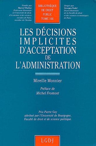 Les dcisions implicites d'acceptation de l'administration