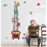 Kinderzimmer Wandsticker Wachstum Diagramm Feuerwehr Wandtattoo Wandbilder Aufkleber