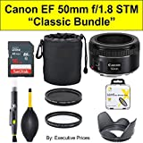 'Classic Bundle' Canon EF 50mm f/1.8 STM Lens + Accessories Bundle