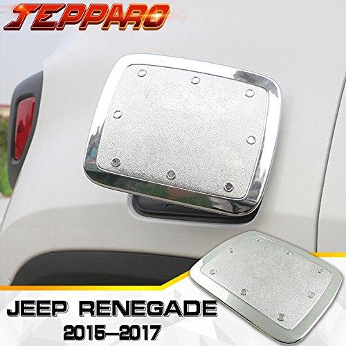 Preisvergleich Produktbild jepp Renegade 20152017Deckel de Tank Kraftstoff Dekorieren ABS vergoldet Chorme Stöpsel Tank Kraftstoff silber / schwarz