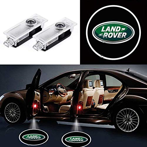 KVCH 2 pezzi Luce di benvenuto Porta auto LED Logo del proiettore Fantasma Ombra Luci per Evoque Discovery 4 Freelander con il dispositivo di rimozione della tappezzeria della port