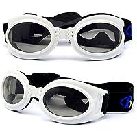 dreamw orldeu Gafas de sol Perros Gafas de sol Gafas de protección para perros mascotas/Gafas de protección Perros Gafas de sol, blanco