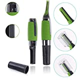 #9: New Real Craze All in one Personal Ear Nose Neck Eyebrow Hair Trimmer Remover, Hair Remover Personal Trimmer for Men (Green)